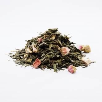 Zielona herbata z rabarbarem
