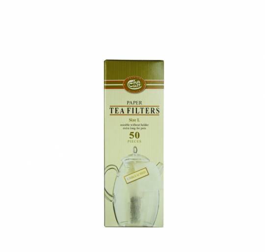 Tee Filter Papier ungebleicht 50 Stck., extra gross