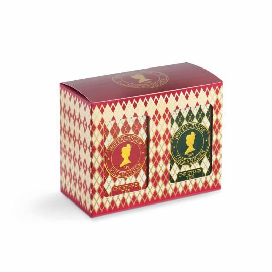 Geschenkbox mit 2 Dosen 12 Teebeuteln - Weihnachtstee