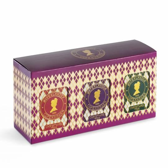 Geschenkbox mit 3 Dosen - Weinachten Tee