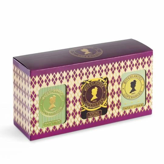 Geschenkbox mit 3 Dosen - Kräutertee