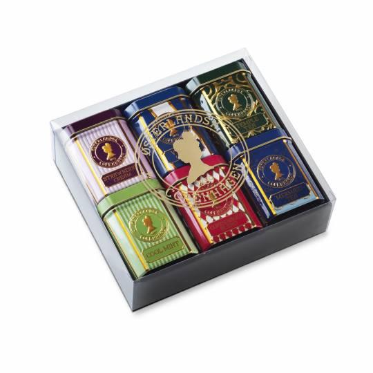 Geschenkbox mit 6 Dosen Tee - Weihnachtstee
