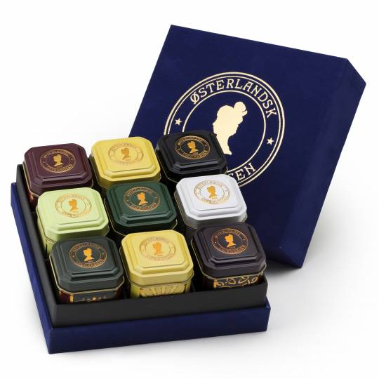 Deluxe Geschenkbox mit 9 Dosen Tee - Bio-Tee