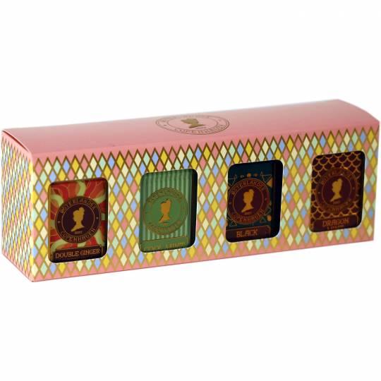 Geschenkbox mit 4 Dosen Tee - Kräutertee