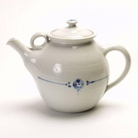 Birkerød Teapot 1,7 l. White with Flower